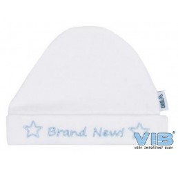 Muts Rond Brand New! Wit-Blauw