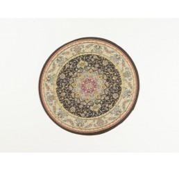Ebony-Ray Victorian Round Rug
