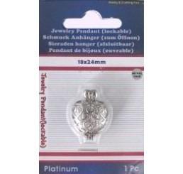 Metalen hanger hart klein zkl