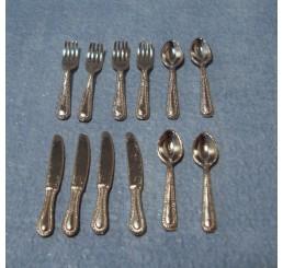Zilveren bestekset, 4-delig