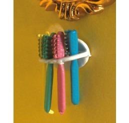 houder met 4 tandeborstels