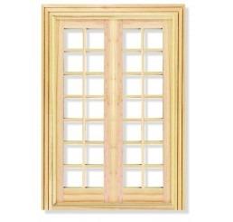 Raam, Frans, 2 panelen, 28 ruiten, luxe